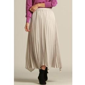 LAUTREAMONT / スウェード調素材のヘムラインプリーツスカート