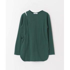 [センスオブプレイス] tシャツ アシメレイヤードトップ レディース GREEN FREE