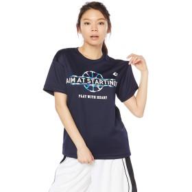 [コンバース] バスケ 半袖Tシャツ ウィメンズプリントTシャツ 吸汗 速乾 CB392302 ネイビー 日本 S (日本サイズS相当)