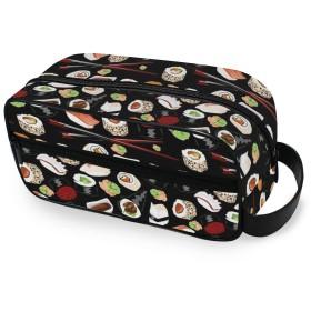 化粧ポーチ トイレタリーバッグ トラベルポーチ 防水 大容量 小物入れ 洗面用具 収納ポーチ 出張 海外 旅行グッズ 男女兼用 寿司