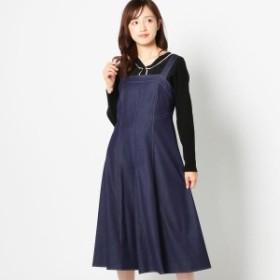 ミッシュ・マッシュ(MISCH MASCH)/配色ステッチジャンパースカート