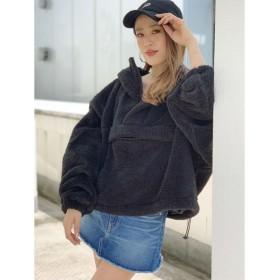 ジェイダ アノラックショートパーカー レディース ブラック F 【GYDA】