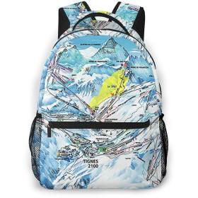 リュック バック ティーニュピステの地図, リュックサック ビジネスリュック メンズ レディース カジュアル 男女兼用大容量 通学 旅行 鞄 カバン