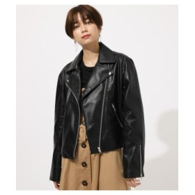 (AZUL BY MOUSSY/アズールバイマウジー)ECO LEATHER RIDER'S JACKET/レディース BLK