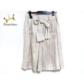 トゥービーシック TO BE CHIC スカート サイズ42 L レディース ベージュ リボン 新着 20190922