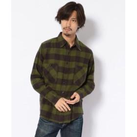 (BEAVER/ビーバー)KATO'/カトー ブロックチェックワークシャツ/メンズ GREEN