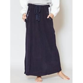 [マルイ] 【Kahiko】オルテガ刺繍リブロングスカート/チャイハネ(CAYHANE)