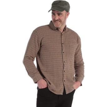 (ビーアンドティークラブ) B&T CLUB 大きいサイズ メンズ 綿100% ボタンダウン ネルシャツ (X3 カーキ)