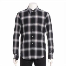 アタッチメント キュプラ チェックシャツ 2 メンズ ブラック カズユキ クマガイ 18SS