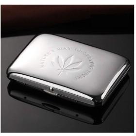 LI FANG シガレットケース、金属純銅ステンレス鋼ファッションメンズシガレットケース16スティック、高品質、最高の贈り物 (Color : A)