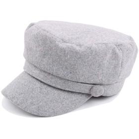 ZiWen Lu 2019ベレー帽キャップ秋冬レディースウールウールメンズフラットキャップメンズとレディースミリタリーキャップオートバイキャップ防風暖かい学生キャップ (色 : Light grey, サイズ : 56-58CM)