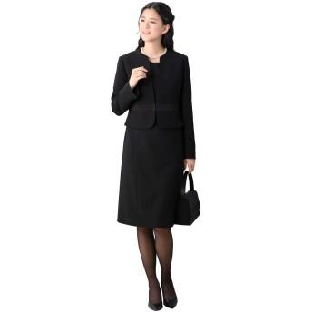 (ティセ) TISSE ブラックフォーマル 喪服 洗える レディース ワンピース スーツ 大きいサイズ 【ネックレス付】 49-732127 (15号)
