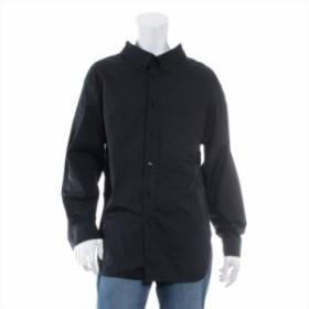 バレンシアガ コットン シャツ 34 メンズ ブラック