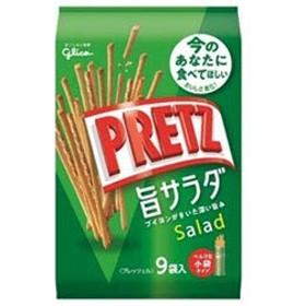 グリコ PRETZ(プリッツ)旨サラダ 9袋×6袋入×(2ケース)