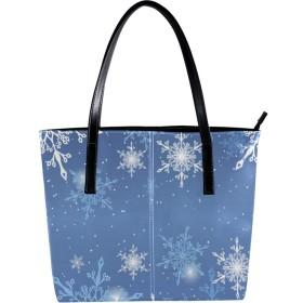 Carrozza トートバッグ 手提げ レディース ハンドバッグ 肩掛け 大容量 おしゃれ PUレザー 雪柄 クリスマス かわいい ショルダーバッグ 学生 通勤 通学 a4