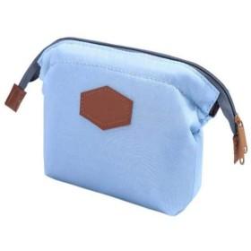 Koloeplf トラベルメイクアップバッグ化粧品バッグブラシポーチトラベルメイクアップケースポーチポータブルトイレタリーウォッシュバッグ用女性女の子 (Color : Sky Blue)