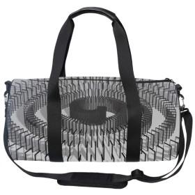 ダッフルバッグ2WAY 抽象模様 防水バッグ 円形ドラム型 大容量 ドライバッグ ラフティング バッグ