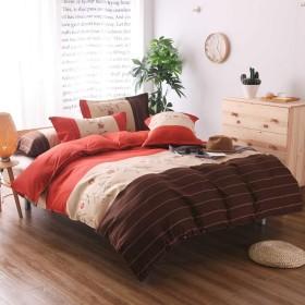 CXSD シンプルな花柄3ピース寝具掛け布団セット通気性布団カバーセットマイクロファイバー寝具セット枕カバー複数色寝具キルト (Color : Orange, Size : 230x230cm)