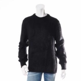 サンローランパリ ウール セーター Mサイズ メンズ ブラック モヘア