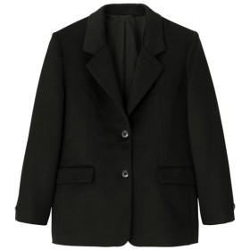 (GU)ウールブレンドオーバーサイズジャケット+X BLACK L