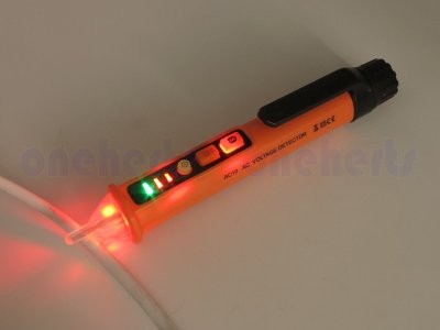 台灣現貨 AC10 可調式非接觸式驗電筆 可調敏感度12~1000V 測電筆 漏電檢測 斷點 火線 水電救命 附電池