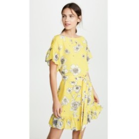 アリス アンド オリビア alice + olivia レディース ワンピース ドロップショルダー Ellamae Drop Shoulder Ruffle Sleeve Dress Begonia
