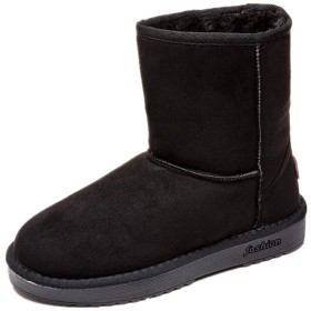 [hometool] レディース ムートンブーツ スノーブーツ ショートブーティー シンプル もこもこ ブーツ ブーティ 暖かい 防寒靴 22.5cm-25.0cm 大きいサイズ