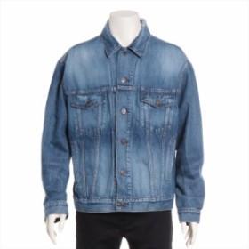バレンシアガ デニム ジャケット サイズ36 メンズ ブルー 19SS クラッシュ加工
