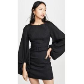 レベッカ ヴァランス Rebecca Vallance レディース ワンピース ミニ丈 ワンピース・ドレス Greta Long Sleeve Mini Dress Black