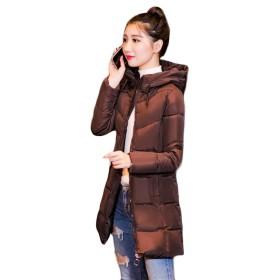 Aisaidunレディース ダウンジャケット 着痩せ フード付き 中綿コート 韓国風 無地 ダウンコート 中年 分厚いコーヒーN