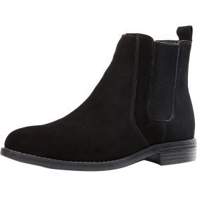 [Isome] スエードシューズ レインブーツ 防滑 チェルシーブーツ 革靴 防水 軽量 ハイカット ビジネスシューズ 紳士靴 梅雨対応 男女兼用ブーツ ブラック 28.0cm