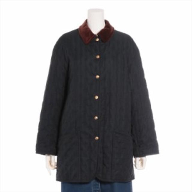 エルメス ポリエステルxナイロン 中綿ジャケット サイズ34 メンズ ブラック パドックコート