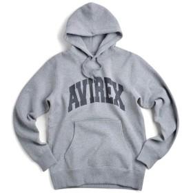 AVIREX アビレックス デイリーウェア 6153514 ロゴ スウェットパーカ (M, 014 GREY)