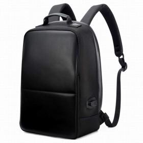 NCYTDE USB充電バックパックメンズPU旅行バックパックバッグ盗難防止ラップトップバックパック