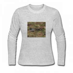トップス 米軍:エンジニア(カモ) Women Long Sleeve T-Shirt レディーズ Tシャツ