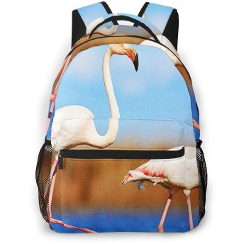 リュック バック ピンクのフラミンゴ川, リュックサック ビジネスリュック メンズ レディース カジュアル 男女兼用大容量 通学 旅行 鞄 カバン