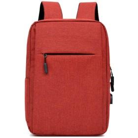 ビジネスリュック メンズ 大容量 リュックサック 撥水 軽量 pcバッグ パソコンバッグ USB充電ポート バッグパック PCリュック 人気 出張 通勤通学 旅行に適用 (レッド)