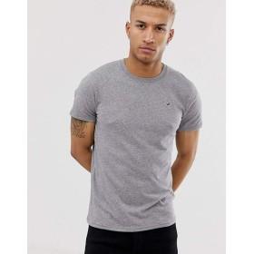 [グレー レギュラーフィット クルーネック ロゴ入り Tシャツ Regular fit Crew neck Seagull logo t-shirt in grey] (並行輸入品) [並行輸入品]