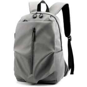バックパック、ファッショントレンド大学生スクールバッグレジャー高容量旅行バックパックラップトップバッグ、シンプルな男性のバックパック旅行バッグ (Color : Gray)