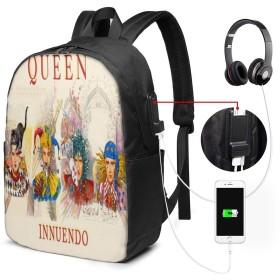 大容量のバックパック USBインターフェイス付きバックパック 音楽女王Queen 外部USBインターフェイス、1つのヘッドフォンケーブルインターフェイス 学校、アウトドアスポーツ、旅行、登山、サイクリングに適しています