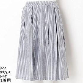 ソソ(大きいサイズ)(SOSO) 【LL~3L・4L~5L】ストライプスカート【60コン/2(4L~5L)】