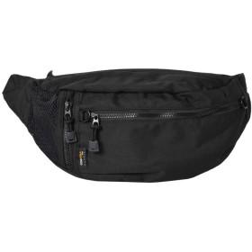 ウエストバッグ メンズ コーデュラ CORDURA 防水 斜めがけ メッシュポケット ショルダーバッグ レディース 男女兼用 F ブラック