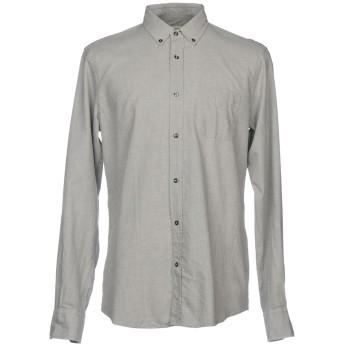 《セール開催中》MAURO GRIFONI メンズ シャツ ライトグレー 41 コットン 100%