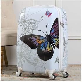安心の超軽量スーツケース TSAロック搭載 機内持込み ファスナータイプ ダイヤル式 保管カバー付白い