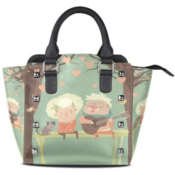 ツリーバードラブ女性の女の子のためのハンドバッグ女性クロスボディバッグ革サッチェル財布メイクトートバッグ