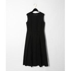 グレースコンチネンタル ラインロゴジャガードドレス レディース ブラック 36 【GRACE CONTINENTAL】