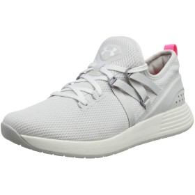 Under Armour Women's Breathe Trainer Sneaker, Gray Flux (100)/White, 10.5