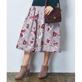 花柄フレアスカート (ひざ丈スカート)Skirts