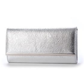 キュリビスキュイ CURI BISCUI 型押しクラッチ (Silver)