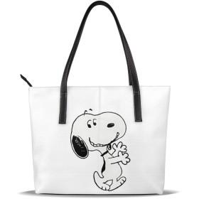 Snoopy 16 バッグ レザー 大容量 ファッション ハイエンド トートバッグ レザー トートバッグ レディース 通勤 ビジネス カジュアル 輸入品